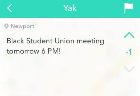 Black Student Union Announcement Sparks Backlash on Yik Yak