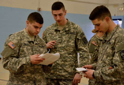 Salve ROTC Students Participate in Frozen Ram